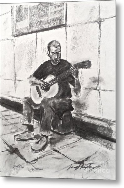 The Acoustic Man Metal Print