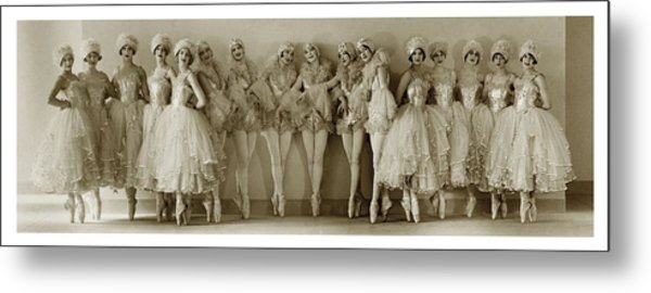 The Albertina Rasch Girls In Rio Rita Metal Print by Florence Vandamm