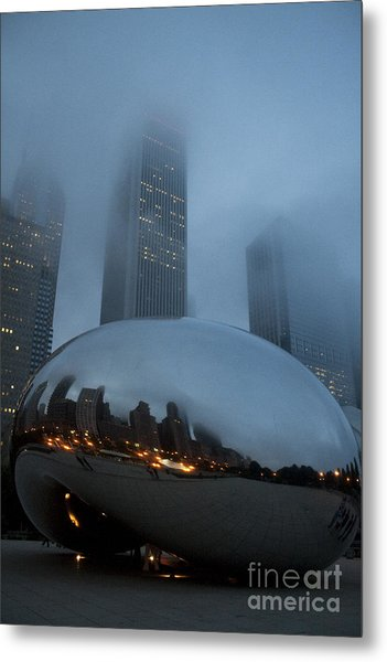 The Bean And Fog Metal Print