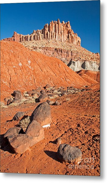 The Castle Capitol Reef National Park Metal Print
