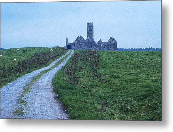 The Deserted Abbey Metal Print by Carl Purcell