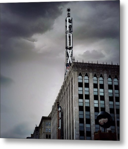 The Detroit Fox Metal Print