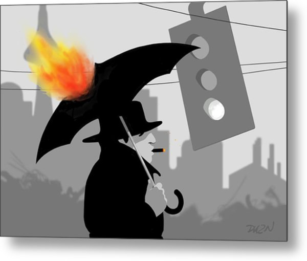 The Eastside Smoker Metal Print