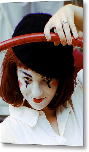 The Mime Metal Print