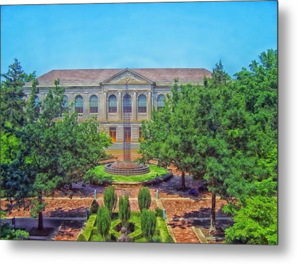 The Old Main - University Of Arkansas Metal Print