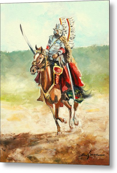 The Polish Winged Hussar Metal Print