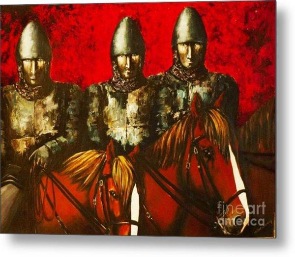 Three Knights Metal Print
