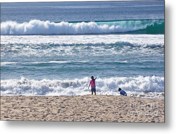 Thundering Waves Metal Print