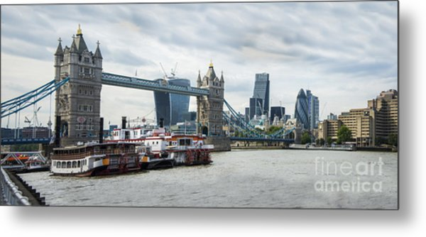 Tower Bridge London Metal Print by Donald Davis
