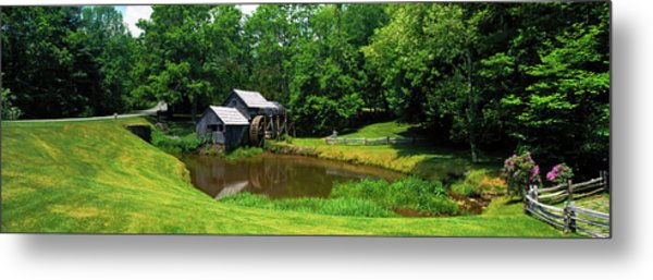 Trees Around A Watermill, Mabry Mill Metal Print