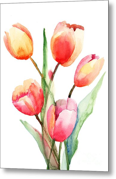 Tulips Flowers Metal Print