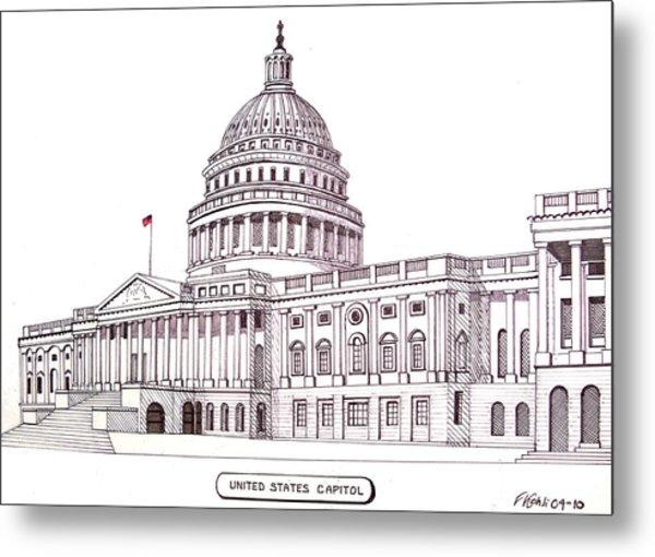 United States Capitol Metal Print by Frederic Kohli