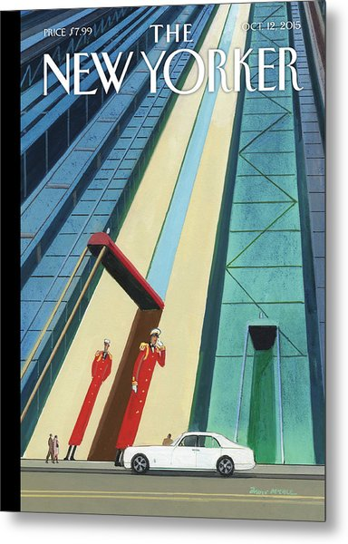 New Yorker October 12th, 2015 Metal Print