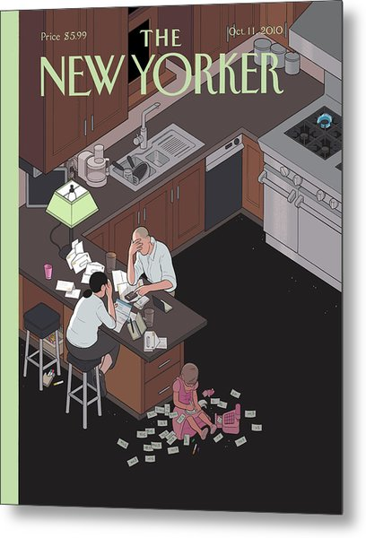 New Yorker October 11th, 2010 Metal Print