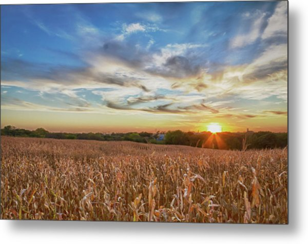 Usa, Nebraska, Near Omaha Metal Print by Christopher Reed