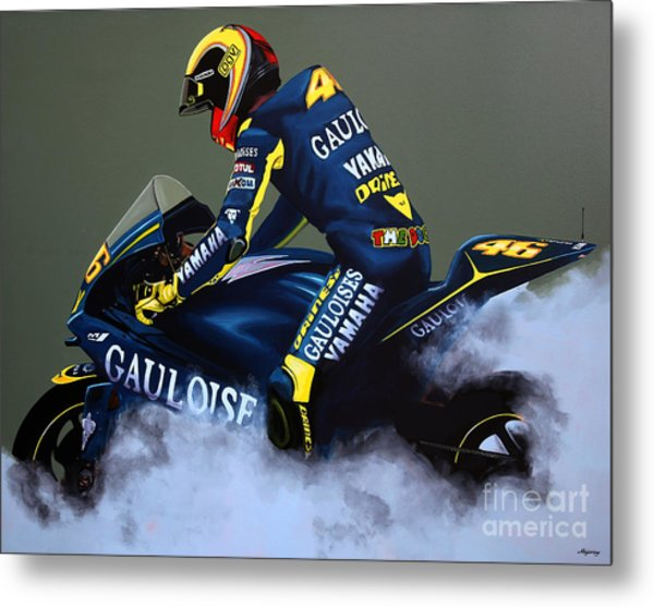 Valentino Rossi Metal Print