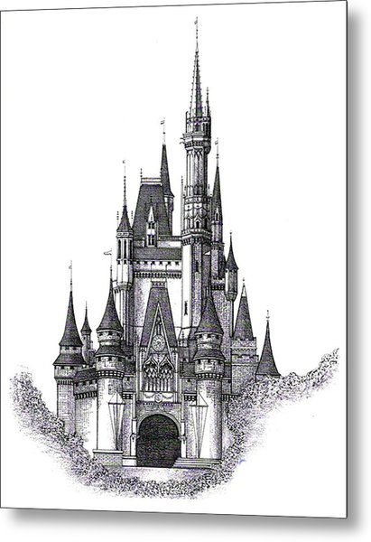 Walt Disney World Cinderella Castle Metal Print