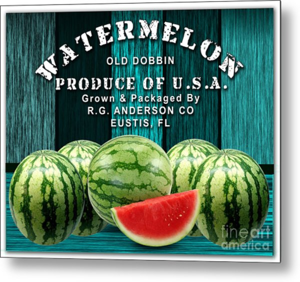 Watermelon Farm Metal Print