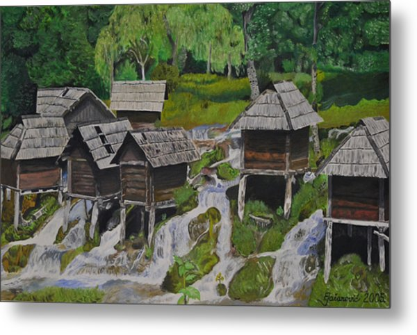 Watermill On Pliva Metal Print by Ferid Jasarevic