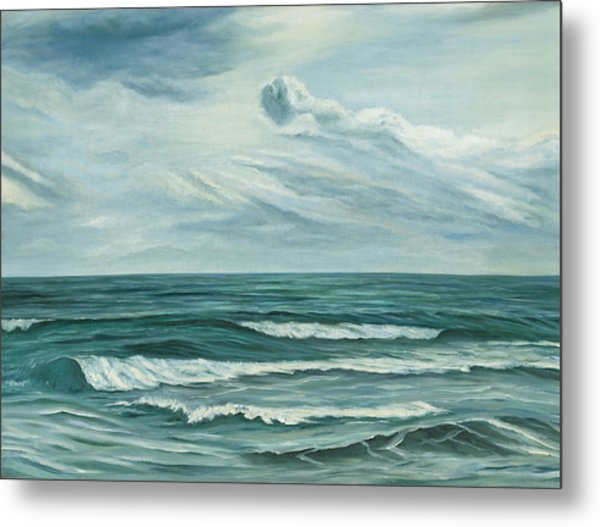 Waving Sea Metal Print
