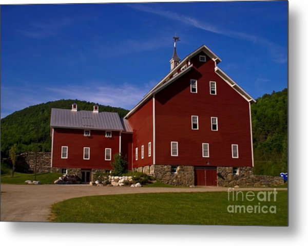 West Monitor Barn. Metal Print