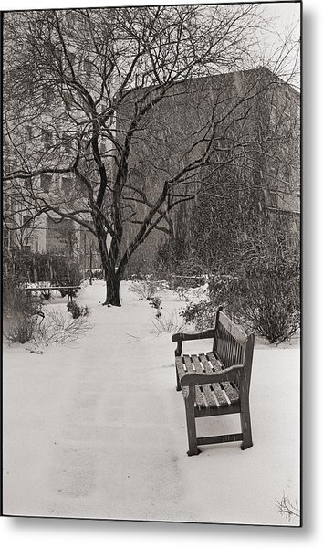 West Village Snow  Metal Print