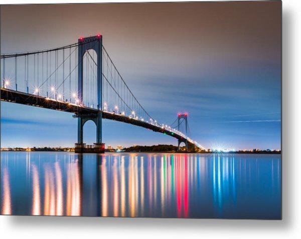 Whitestone Bridge Metal Print
