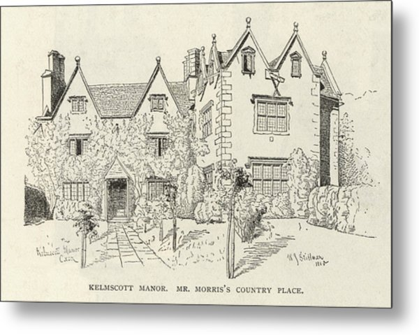 William Morris  English Writer's Home Metal Print by Mary Evans Picture Library