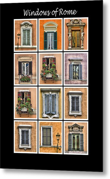 Windows Of Rome Metal Print