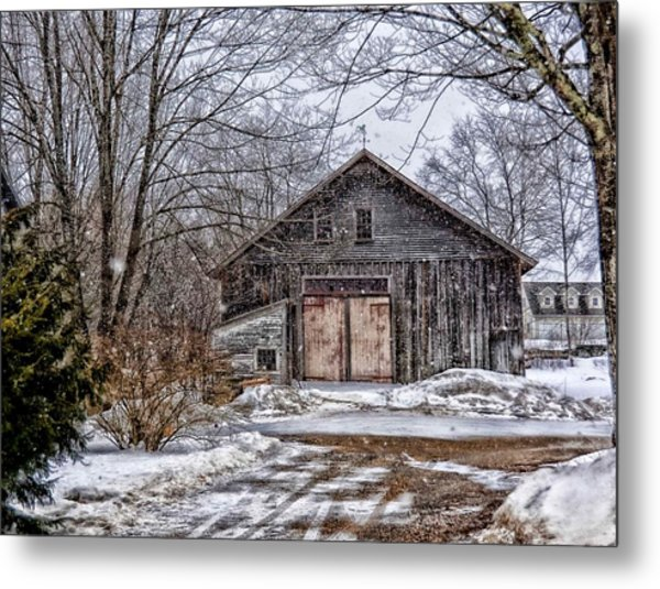 Winter At The Farm Metal Print