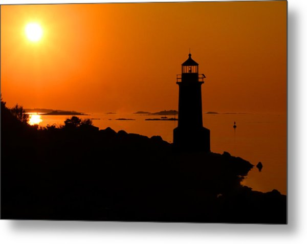 Metal Print featuring the photograph Winter Island Lighthouse Sunrise by Jemmy Archer