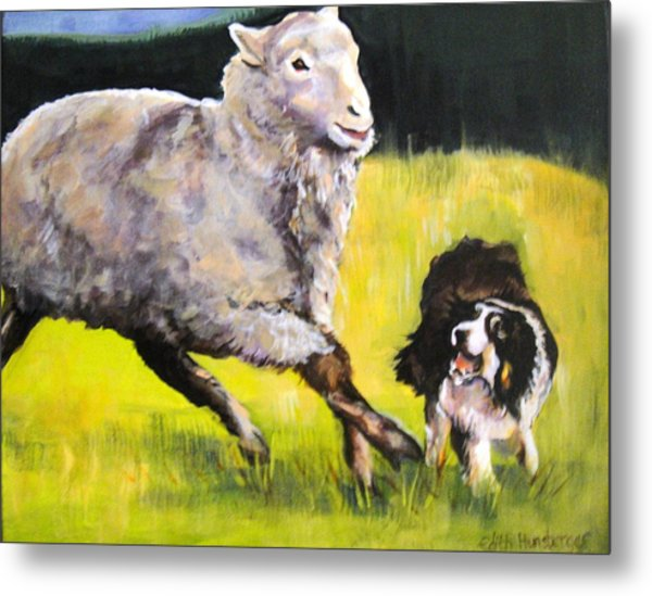 Working Dog Metal Print