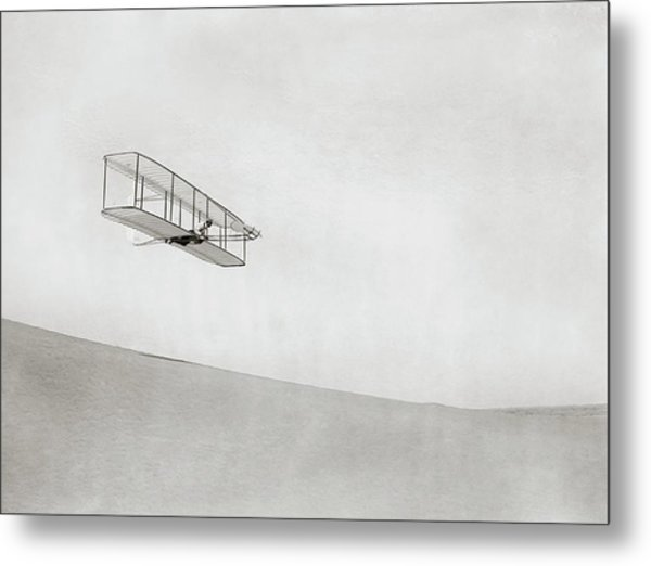 Wright Brothers Kitty Hawk Glider Metal Print by Library Of Congress