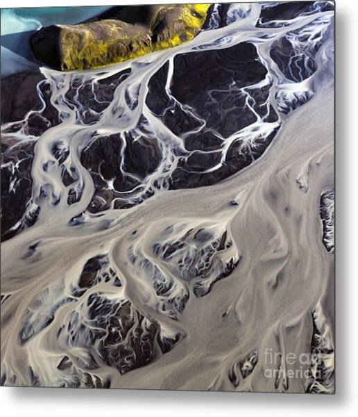 Iceland Aerial Photo Metal Print