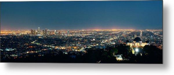 Los Angeles At Night Metal Print