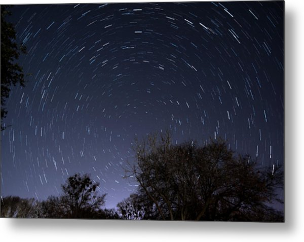 Metal Print featuring the photograph 20 Minutes Of Star Movement by Todd Aaron