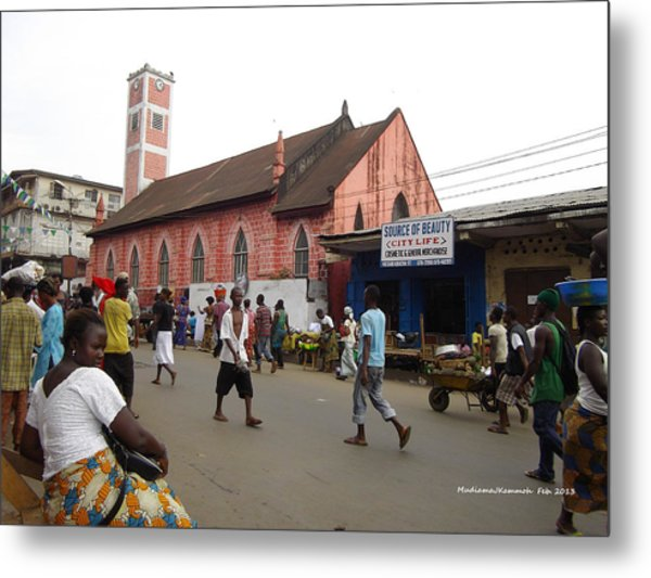 200 Year Old Methodist Church-sani Abacha Street  Metal Print