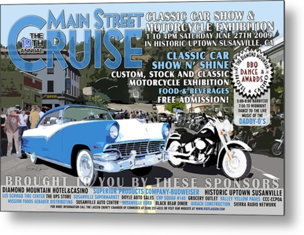 2009 Main Cruise Poster Metal Print