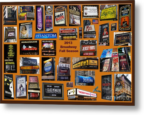 2013 Broadway Fall Collage Metal Print