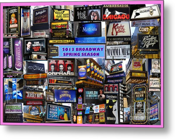 2013 Broadway Spring Collage Metal Print
