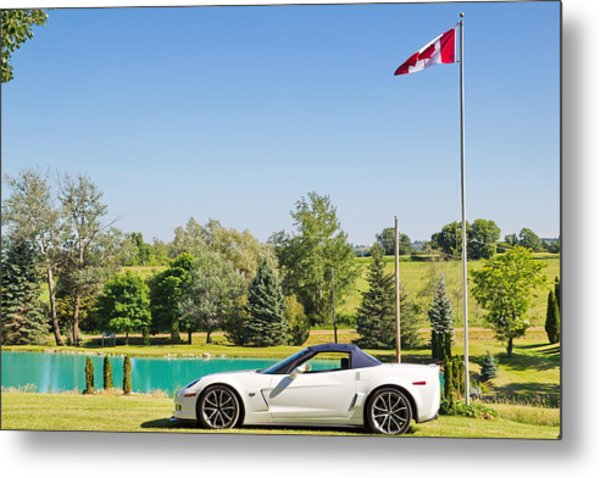 2013 Corvette 427 Sixtieth Anniversary Special By Canadian Flag Metal Print