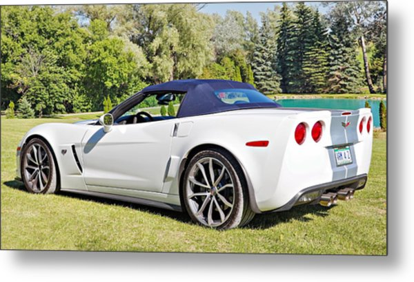 2013 Corvette 427 Sixtieth Anniversary Special Striped Roof Up Metal Print