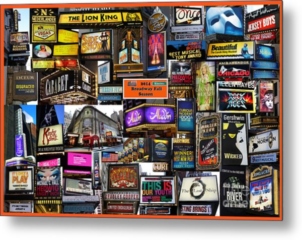 2014 Broadway Fall Season Collage Metal Print