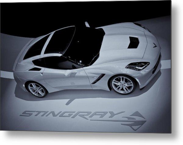 2014 Chevy Corvette  Bw Metal Print