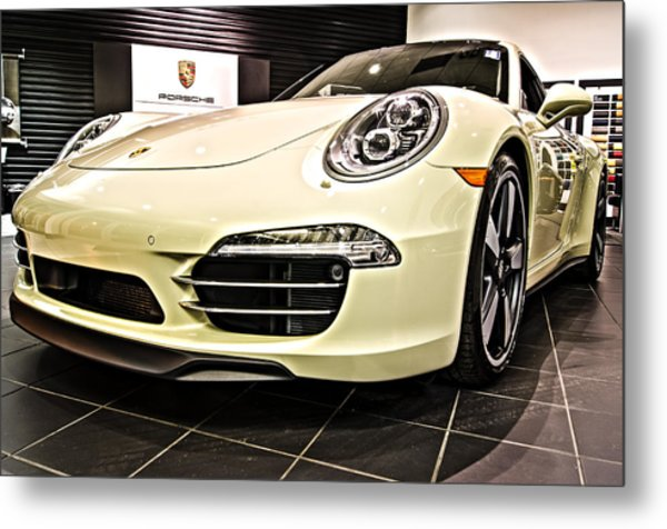 2014 Porsche 911 50th Front Metal Print