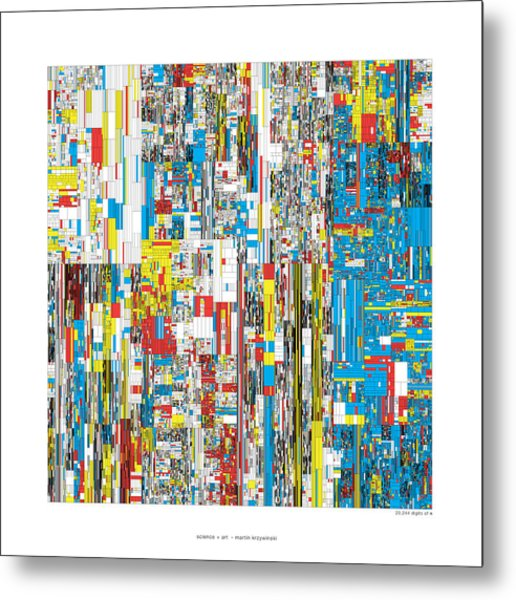 20244 Digits Of Pi Metal Print by Martin Krzywinski
