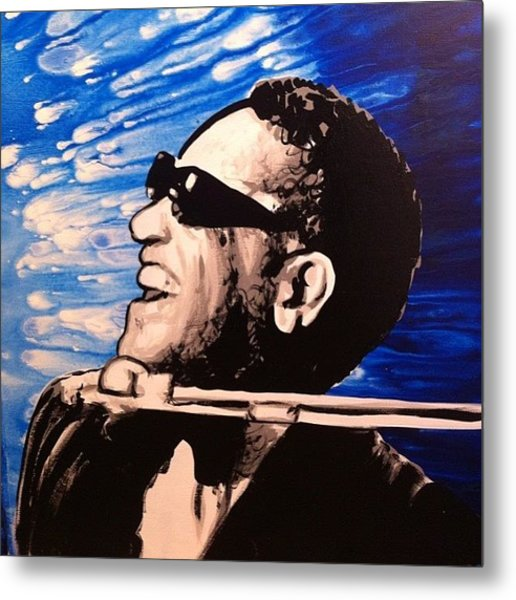 21x27 Ray Charles Original Painting Metal Print