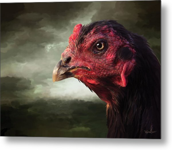 22. Game Hen Metal Print