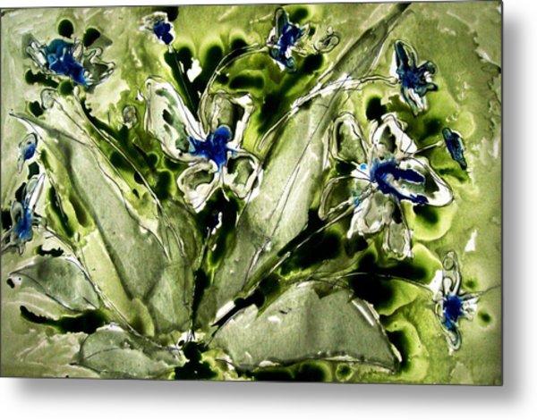 Heavenly Flowers Metal Print by Baljit Chadha