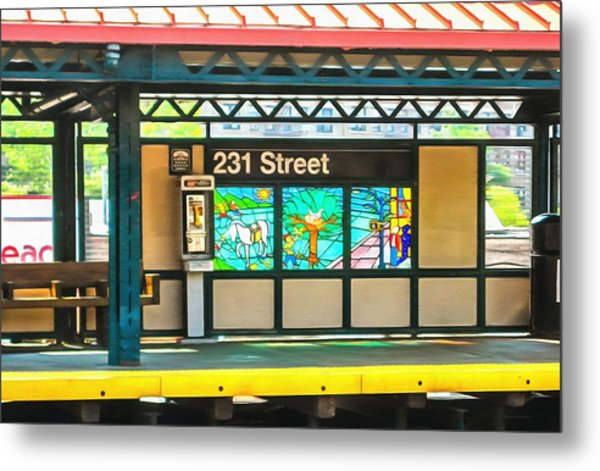 231 Street Subway Metal Print